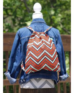 Timbali Crafts Handmade African Drawstring Backpack - Rick Rack