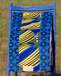 Timbali Crafts Handmade African Table Runner - Blue & Yellow