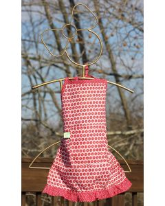 Timbali Crafts Handmade African Girl's Apron - Red Dot - Wide View