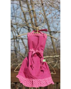 Timbali Crafts Handmade African Girl's Apron - Hot Pink - Wide View