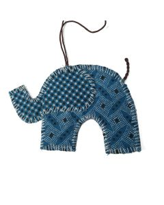 Timbali Crafts Handmade African Christmas Ornament - Elephant