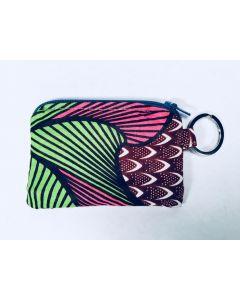 ID Pouch Keychain Pink Rainforest