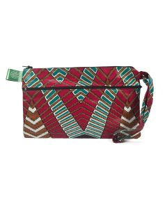 Timbali Crafts Handmade African Large Triple Zipper Handbag