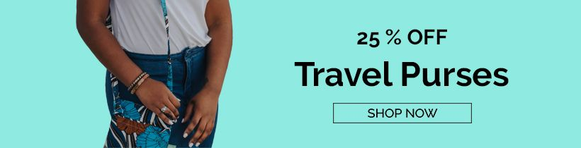 Get 25% off all Travel Purses, shop now!